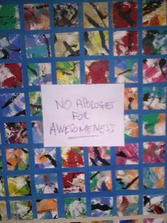 No apologies for awesomeness