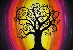 Bodhi Tree Art | Tree Acrylic Painting