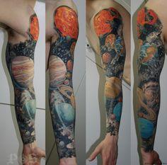solar syatem tattoo | tattoos « Sanitary Electric Tattoo Company