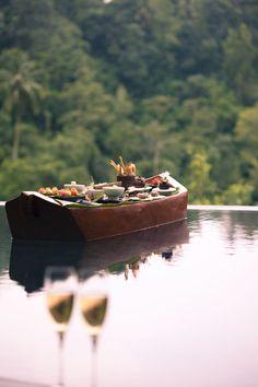 floating dinner for two