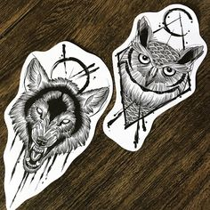 Owl Tattoo Design, Tattoo Design Drawings, Tattoo Sketches, Tattoo Designs, Ozzy Tattoo, Demon Tattoo, Tattoo Skin, Pisces Tattoos, Mermaid Tattoos