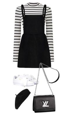 """Sem título #34"" by cherrycokexx ❤ liked on Polyvore featuring Miss Selfridge, Puma, Accessorize and Louis Vuitton"