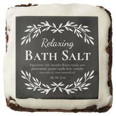 Black Vintage Relaxing DIY Bath Salt Labels | Zazzle.com Diy Bath Salt Labels, Homemade Scrub, Diy Chalkboard, Relaxing Bath, Lavender Flowers, Vintage Labels, Bath Salts, Different Shapes, Custom Stickers