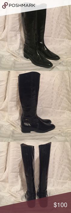 Knee High Peter Kaiser Boots Peter Kaiser boots patent leather (naturally waterproof) super comfy and never worn! Peter Kaiser  Shoes