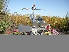 """The Day the Music Died Monument at the crash site. The Day the Music Died, so dubbed by a lyric in the Don McLean song """"American Pie,"""" is a reference to the deaths of rock and roll musicians Buddy Holly, Ritchie Valens, and J. P. """"The Big Bopper"""" Richardson, in a plane crash near Clear Lake, Iowa, on February 3, 1959. Pilot Roger Peterson was also killed."""