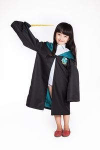 Harry Porter Slytherin Cosplay Costume for Kids Halloween Party Wear