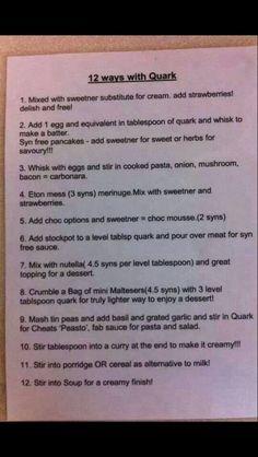 12 ways with Quark :)