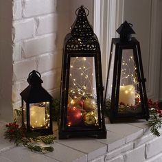 LED String Lights in Glass Lanterns by Kirkland's