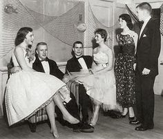 At the school dance, 1950s.