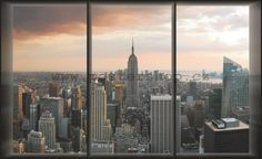 Fototapeta - Pohled z okna na Manhattan