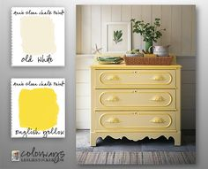 Colorways with Leslie Stocker » Inspired by Martha Stewart. For a similar look, use Annie Sloan Chalk Paint®, English Yellow and Old White