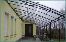 Как пристроить веранду к дому из поликарбоната, фото-2 Porch, Exterior, Landscape, Outdoor Decor, House, Home Decor, Metal Structure, Houses, Balcony