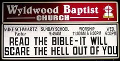These are REAL church signs from around the country.