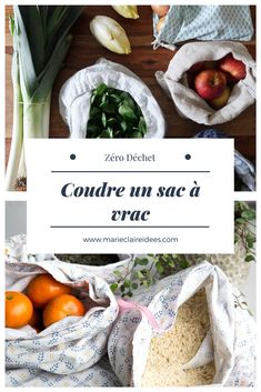 Coudre un sac à vrac / DIY zéro déchet Diy Couture, Couture Sewing, Diy Clothes No Sewing, Sewing Patterns Free, Free Sewing, Sewing Hacks, Sewing Tutorials, Sewing Tips, Make Up Tutorial Contouring