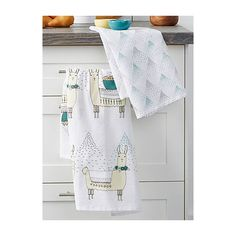 Danica Guanaco tea towels  Set of 2 ($12) ❤ liked on Polyvore featuring home, kitchen & dining and kitchen linens
