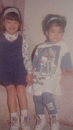 Renata e Nicole crianças