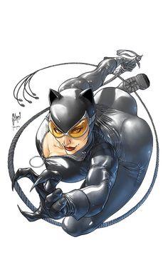 CATWOMAN cover: sketches, pencils, inks by Guillem March Batgirl, Batman And Catwoman, Batman Arkham, Heros Comics, Dc Comics Girls, Marvel Dc, Marvel Comics, Evvi Art, Catwoman Cosplay