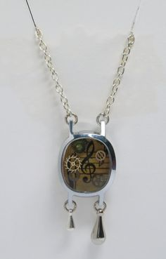 Steampunk Music Resin Watch Case Pendant  Handmade by wiggelhevin, $20.00