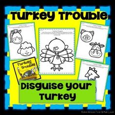 Turkey Trouble Activities will help students understand plot with comprehension questions, games, vocabulary, grammar, fluency, phonics, comprehension strategies, sequencing, writing, and a comprehension test with answer key! Turkey Trouble, Robin Wilson, Comprehension Strategies, Guided Reading, Classroom Activities, First Grade, Phonics, Vocabulary, Teaching