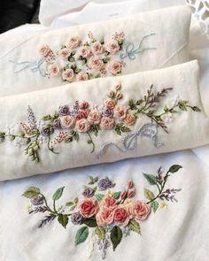 new brazilian embroidery patterns Brazilian Embroidery Stitches, Types Of Embroidery, Rose Embroidery, Learn Embroidery, Silk Ribbon Embroidery, Cross Stitch Embroidery, Embroidery Thread, Embroidery Designs, Hand Embroidery Patterns