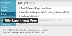 Split (A/B) test multiple titles for a post and discover which gets more page views. Ab Testing, Blogging, Wordpress, Ads, Marketing, Free