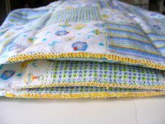 Prefold cloth diaper making tutorial