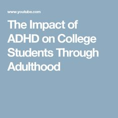 ADHD, College, and Executive Functions  1-hour video presentation with Robert Tudisco