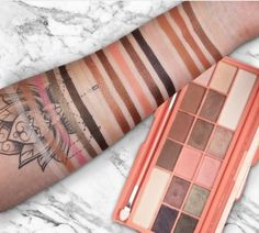 Image result for i heart makeup chocolate peach palette vs too faced swatch