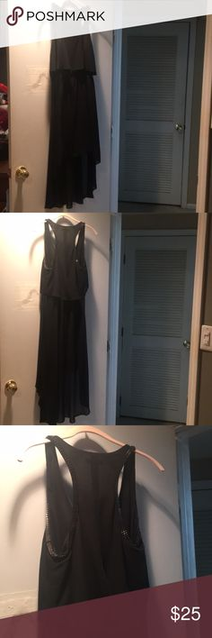 Black Dress High Low! Super cute-only worn once! Double Zero Dresses High Low