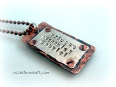 Hey, I found this really awesome Etsy listing at https://www.etsy.com/listing/91603665/rustic-riveted-copper-and-sterling
