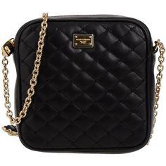 DOLCE & GABBANA Shoulder bag (6,650 MXN) ❤ liked on Polyvore featuring bags, handbags, shoulder bags, purses, bolsos, accessories, bolsas, black, lambskin purse and black shoulder bag