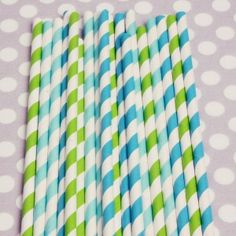 SEASIDE STRAW MIX      $4.00  Sip in style with a lovely mix of lime green, aqua, and peacock. You will receive one pack of 20 straws.