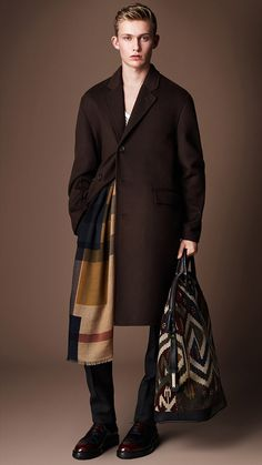Double Cashmere Caban: One of my favourite runway looks from the @Burberry Prorsum Menswear A/W14 show