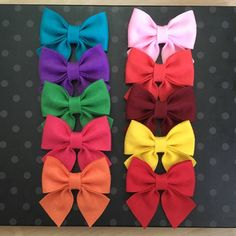 Felt bows for crafting 10 pcs,felt bows for projects,assorted felt bows for diy,bows for crafting,felt bows by LilVeniceBowtique on Etsy