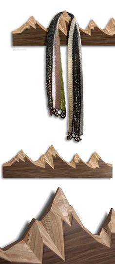 Mountain range   coat rack hook - AWESOME! #product_design