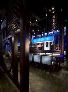 The new Hakkasan restaurant in Abu Dhabi by Firefly Lighting Design