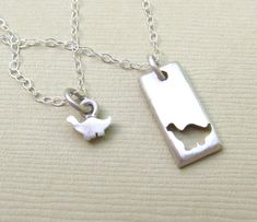 Tiny Dinosaur Mother Daughter Necklace Set – Emily Jane Designs