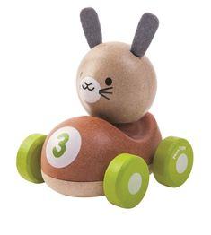 Bunny Racer Träbil - PlanToys - Paddington's Leksaker
