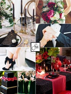 Inspiration board: Dramatic & elegant Valentine's Day wedding