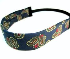 repurpose old ties Old Neck Ties, Old Ties, Fabric Crafts, Sewing Crafts, Sewing Projects, Tie Headband, Headbands, Mens Ties Crafts, Neck Tie Crafts