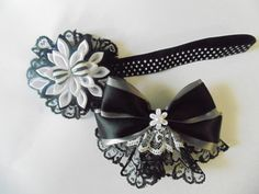 white and black accessories- women/girl accessories,mon and daughter accssories,white and black headband,white and black hair clip. by flowerliss on Etsy