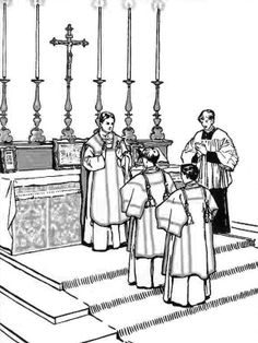Coloring Page Altar Server Catholic Kids Coloring Pages