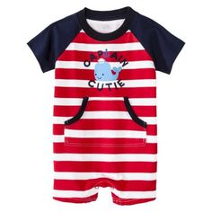 Just One You™Made by Carter's® Newborn Boys' Jumpsuit - Red/White