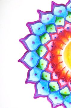 Reblogged 22,000 times on Tumblr Would be nice if they would have posted the original source. This is my art. http://www.flickr.com/photos/biffybeans/4029489523 see the originals here. Visit me at biffybeans.com. #Mandala