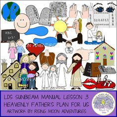 LDS Sunbeam Manual (Primary 1) Lesson 3: Heavenly Father's Plan for Us by risingmoonadventures on Etsy