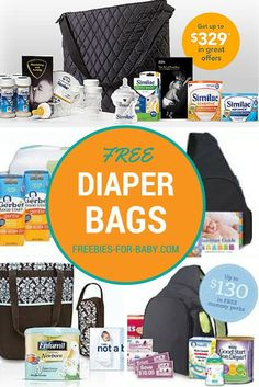 Free Diaper Bags filled with Free Baby Formula plus lots more free baby stuff! 5…