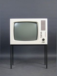 The model 'FS 60' TV designed by Herbert Hirche and Dieter Rams for Braun of Germany in 1960.