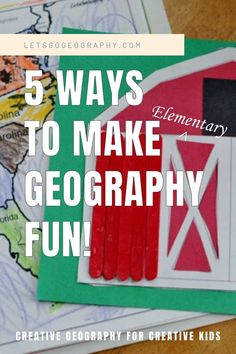 Let's Go Geography knows how to make elementary geography fun! Find out the secrets and get ready to toss the boring workbook pages. Kids love geography with these hands-on activities and ideas! Share with friends! #homeschoolgeographyelementary #homeschoolgeographychildren #homeschoolgeography #letsgogeography #geographyforkids #firstgradegeographycurriculum #1stgradegeographycurriculum #elementarygeographycurriculum