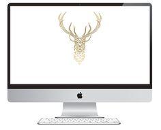 Oh So Lovely: 3 free geometric deer desktops Imac Wallpaper, Deer Wallpaper, Computer Wallpaper, Steve Jobs Apple, Dress Your Tech, Geometric Deer, Desktop Design, Drawing Journal, Fancy Fonts