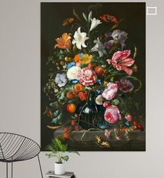 Vase of Flowers II Jan Davidsz de Heem Wall Tapestry by Restored Art And History - Small: x Wood Wall Art, Framed Wall Art, Flower Vases, Flower Art, Van Gogh Pinturas, Wallpaper Panels, Wall Art Designs, Floral Bouquets, Art Reproductions